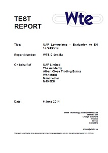 EN13724 letterplate report front