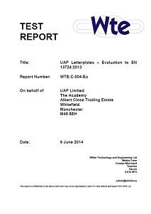 EN13724 letterplate report front
