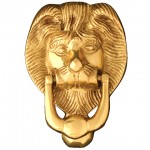 Small Lions Head Door Knocker