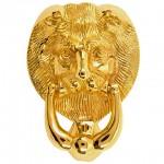 Large Lions Head Door Knocker