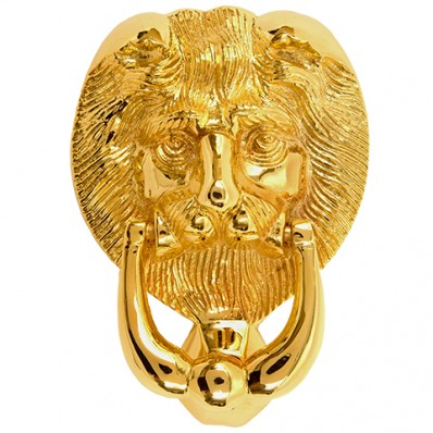 Large Lions Head Door Knocker