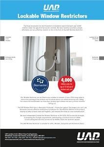 lockable window restrictor tech sheet front