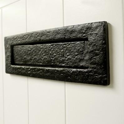 Black Iron Letterplate