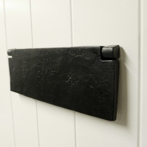 Black Iron Internal Letterplate