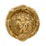 9 inch Lions Head Round Door Knocker