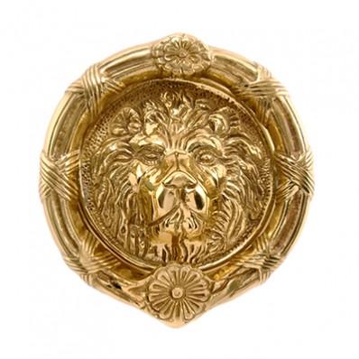 6 inch Lions Head Round Door Knocker