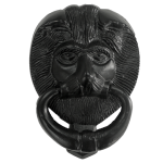 6 Inch Black Iron Lion's Head Door Knocker