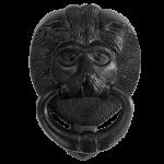6 Inch Black Iron Lion's Head Door Knocker