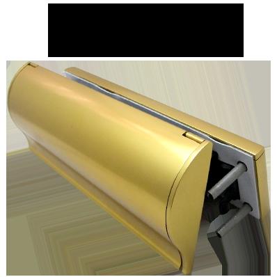 UAP TS008 Internal External Gold Letterplate