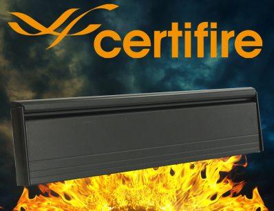 The Soterian TS008 Certifire Letterplate – Black External Flap