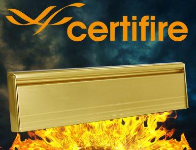 The Soterian TS008 Certifire Letterplate – Gold External Flap