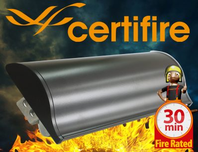 The Soterian TS008 Certifire Letterplate – Black Internal Flap 30 Minutes Fire Rated