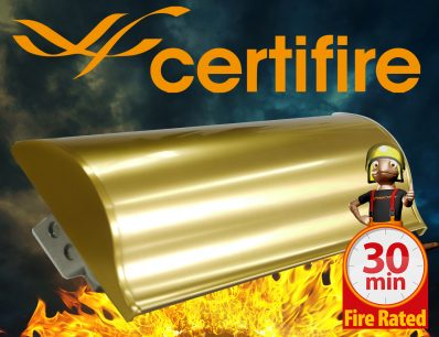 The Soterian TS008 Certifire Letterplate – Gold Internal Flap 30 Minutes Fire Rated