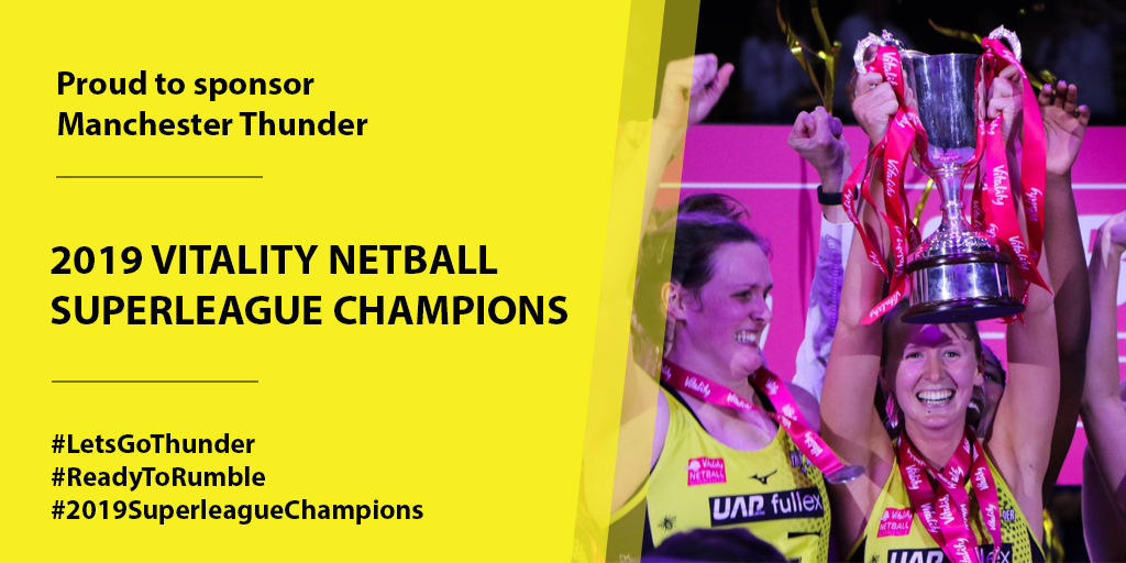 Manchester Thunder 2019 Superleague Champions