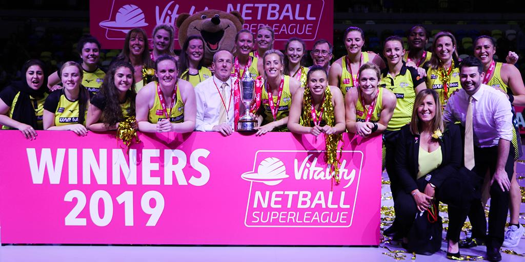 Manchester Thunder 2019 Vitality Netball Superleague Champions
