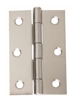 Intelligent Hardware Steel Loose Pin Butt Hinge 75mmx49mm