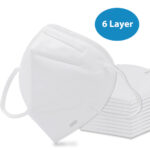 6 Layer Foldable Face Masks - N95